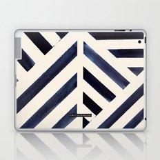 Watercolor Stripe Midnight Laptop & iPad Skin