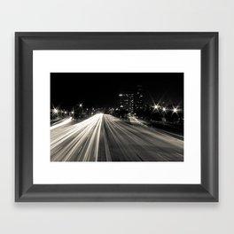 Lake Shore Lights Framed Art Print