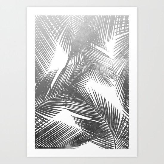 Palms BW Art Print