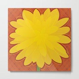 Yellow Dahlia Metal Print