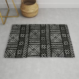 Line Mud Cloth // Black Rug