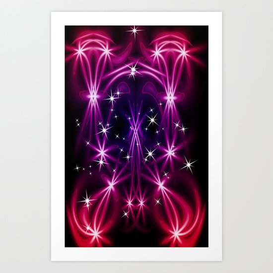 Abstract stars Art Print