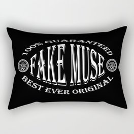 Fake Muse badge (white on black) Rectangular Pillow