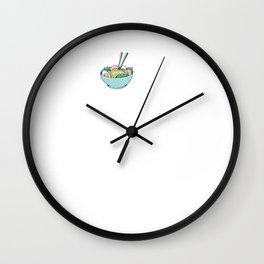 Ramen Soup Noodles EKG Wall Clock