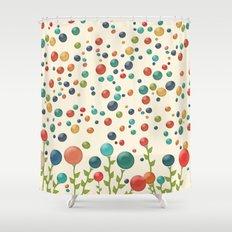 The Gum Drop Garden Shower Curtain