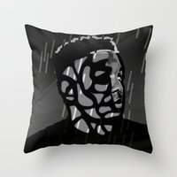 kendrick lamar Throw Pillows featuring Kendrick Lamar by Mr Mamu