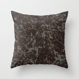 Crystallized gold stone texture Throw Pillow