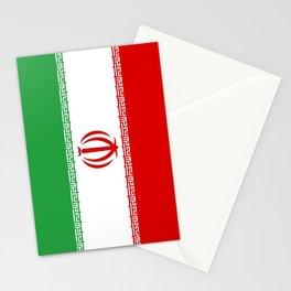 flag of iran- Persia, Iranian,persian, Tehran,Mashhad,Zoroaster. Stationery Cards