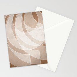 Orbiting Lace in Cinnamon Tones Stationery Cards