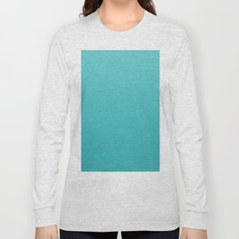 Turquoise Blue Long Sleeve T-shirt