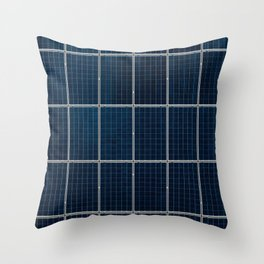 Solar Panel Pattern (Color) Throw Pillow