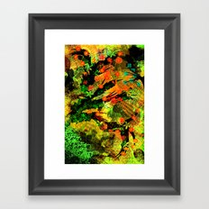 Abstract Art with flowers Framed Art Print