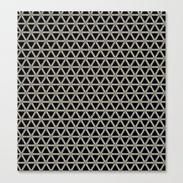 Black, white and gold triangle pattern Canvas Print