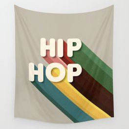 HIP HOP - typography Wall Tapestry