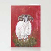 sheep Stationery Cards featuring Sheep by Catherine Johnson