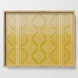 Yellow Ombre needlepoint Serving Tray