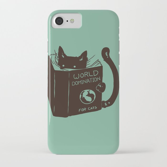 world domination for cats (green) iphone case