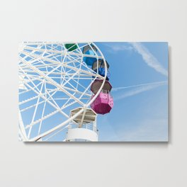 Ferris Wheel in Barcelona Metal Print