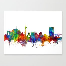 Tehran Iran Skyline Canvas Print