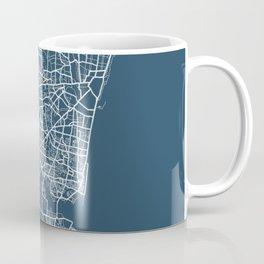 Chennai Blueprint Street Map, Chennai Colour Map Prints Coffee Mug