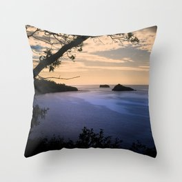 Thatchers Rock and Hope's Nose At Sunset Throw Pillow