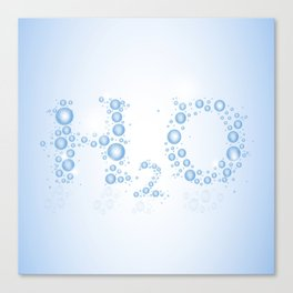 Water drops with background Canvas Print
