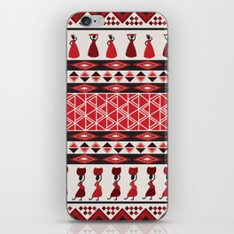 African Tribal Pattern No. 85 iPhone Skin