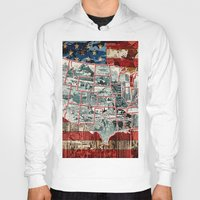 usa Hoodies featuring USA  by Bekim ART