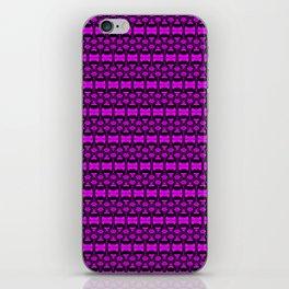 Dividers 02 in Purple over Black iPhone Skin