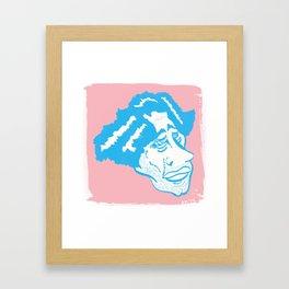 Scruff in Blue Framed Art Print