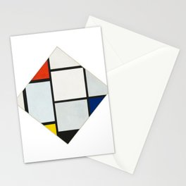 Tableau No. IV: Lozenge Composition with Red, Gray, Blue, Yellow, and Black - Piet Mondrian Stationery Cards
