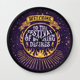 Daughter of the Burning City - Amanda Foody - Purple Wall Clock