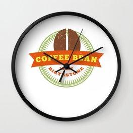 Coffee Bean Barista Cafe Worker Roaster Addict Wall Clock