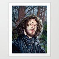 Portrait - Fabio Cappello Art Print