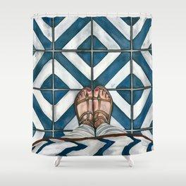 Art Beneath Our Feet - Cabarita Beach, Australia Shower Curtain