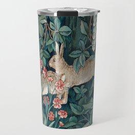 William Morris Forest Rabbits and Foxglove Travel Mug