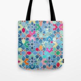 Pretty Pastel Moroccan Tile Mosaic Pattern Tote Bag