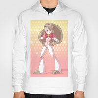 bee and puppycat Hoodies featuring Bee costume redesign by Parapoozle
