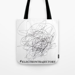 Electron Trajectory Tote Bag