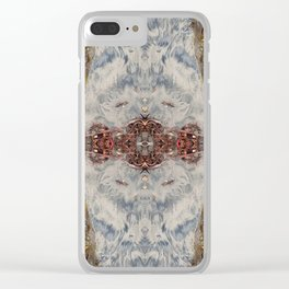Transcending 2 (Mandala #1b) Clear iPhone Case