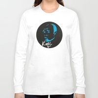 karl Long Sleeve T-shirts featuring Karl Pilkington  by All Surfaces Design