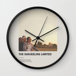 Darjeeling Limited Minimal Movie Poster No 01 Wall Clock