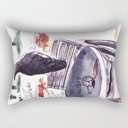 Tuileries Crow Rectangular Pillow