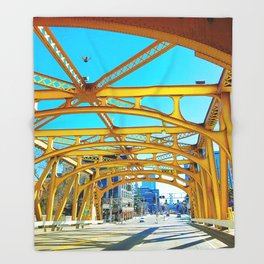 Tower Bridge (Sacramento, CA, USA) Throw Blanket