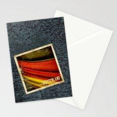 STICKER OF GERMANY flag Stationery Cards