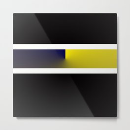 Team Colors 3...navy,yellow Metal Print