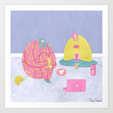 A Perfect Introvert's Evening Art Print