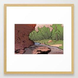 Grandstaff Canyon Sketch Framed Art Print