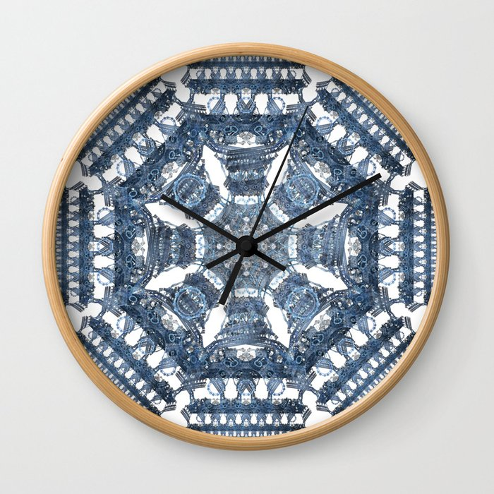Fractal Art - Tiki Bue I Wall Clock