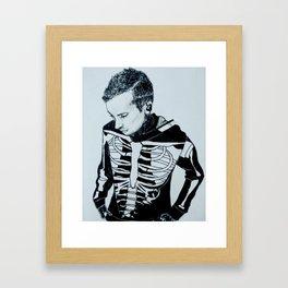 Only Skeleton Bones Remain Framed Art Print